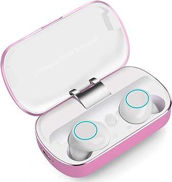 Auriculares Bluetooth, Auriculares Inalámbricos Deportivos Sonido Estéreo con Microfono, Audífonos Bluetooth Resistente al Agua IPX5, Mini Auriculares