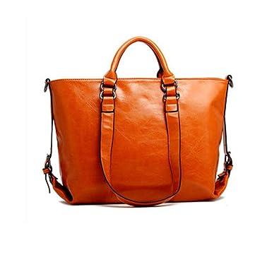 14c2db0d4083 Amazon.com  Aelicy Luxury Designer Women Handbag Female PU Leather Bags  Handbags Ladies Portable Shoulder Bag Office Ladies Bag Totes Color Orange   Shoes