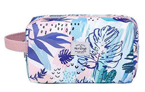 MIETTE Small Cosmetic Bag Cute Makeup Bag, Floral, Pink