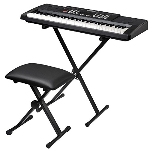 ADM 61 Key Keyboard with Keyboard Stand and Microphone by ADM
