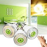 KAMOLTECH E27 5W Sound & Light Control Sensor Bulb Warm White Lamp Home Night Light