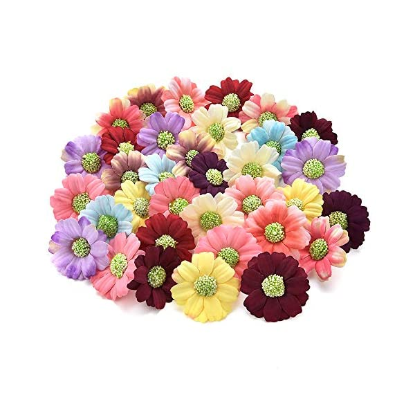 Fake-flower-heads-in-bulk-Wholesale-for-Crafts-Small-Silk-Sunflower-Daisy-Handmake-Artificial-Flower-Head-Wedding-Decoration-DIY-Wreath-Gift-Box-Scrapbooking-Craft-Flower-100pcs-4cm-Colorful