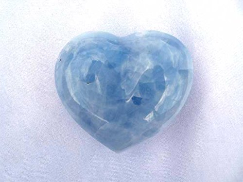 Blue Gem Heart - Blue Calcite Small Decorative Heart