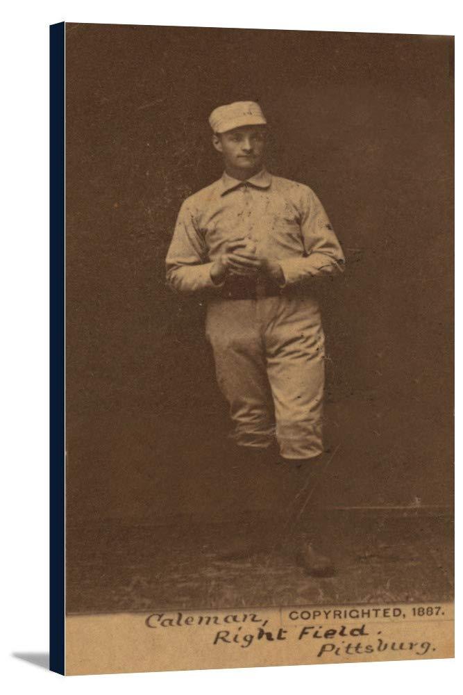 ピッツバーグパイレーツ – ジョンColeman – 野球カード 19 1/4 x 36 Gallery Canvas LANT-3P-SC-22977-24x36 19 1/4 x 36 Gallery Canvas  B0184AJFYO