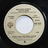 MANFRED MANN'S EARTH BAND 45 RPM DAVY'S ON THE ROAD AGAIN / DAVY'S ON THE ROAD AGAIN