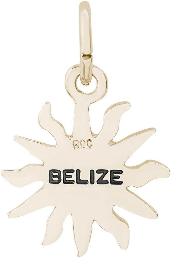 Rembrandt Belize Sun Small Charm - Metal - 14K Yellow Gold