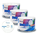 Smart Buy Logo 150 Pack DVD Plus R Dvd+r Dl 8.5gb 8x Double Layer Blank Data Record 150 Discs Spindle