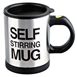 Self Stirring Coffee Mug, 8 oz Stainless Steel Automatic Self Mixing & Spinning Cup