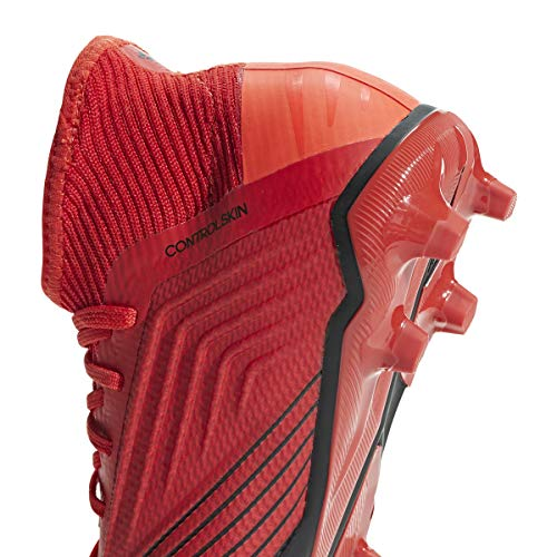 adidas Predator 19.1 FG Cleat Kid's Soccer, 4.0 D(M) US, Action Red-Solar Red-Black by adidas (Image #3)