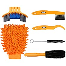 Oumers 6pcs Bike Bicycle Clean Brush Kit/ Cleaning Tools for Bike Chain/Crank/Tire/Sprocket Cycling Corner Stain Dirt Clean, Fit All Bike