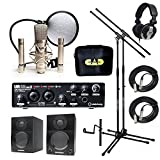 Home Recording Studio Bundle CAD GXL2200SSP MH110 Stands Steinberg UR22MKII Samson Media ONE BT3 Speakers