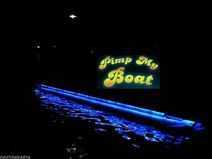 led boat deck lights. pimp my pontoon blue led boat deck lighting kit with bonus red \u0026 green navigation lights led
