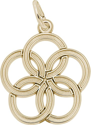 Rembrandt Five Rings Charm - Metal - 10K Yellow (Rembrandt 10k Ring)