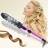 Ceramic Spiral Curling Iron Wand Deep Wave Curler Professional Safe Hair Styler