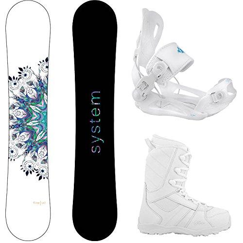 Package-System Flite Women's Snowboard-149 cm-System Lux Bindings-Siren Lux Women's Snowboard Boots-6 (Snowboard Womens 149)