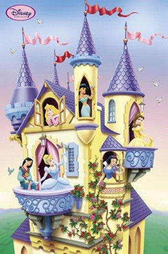 (Disney (Princesses in Castle) Poster Print - 22x34 Poster Print, 22x34 Poster Print, 22x34)