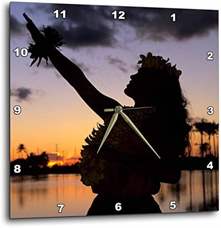 3dRose DPP_89815_2 Hula, Oahu, Hawaii – US12 MDE0016 – Michael DeFreitas – Wall Clock, 13 by 13-Inch