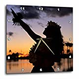 3dRose dpp_89815_3 Hula, Oahu, Hawaii US12 MDE0016 Michael DeFreitas Wall Clock, 15 by 15''