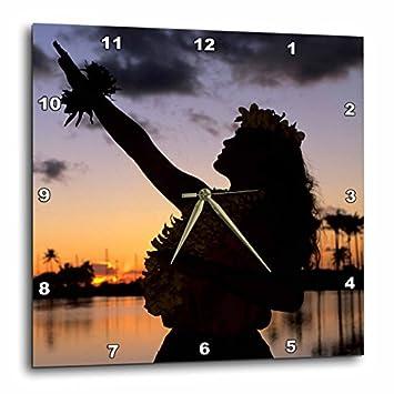 3dRose DPP_89815_2 Hula, Oahu, Hawaii – US12 MDE0016 – Michael DeFreitas – Wall Clock, 13 by 13-Inch