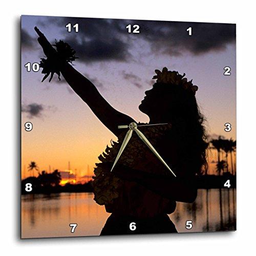 3dRose dpp_89815_3 Hula, Oahu, Hawaii US12 MDE0016 Michael DeFreitas Wall Clock, 15 by 15'' by 3dRose