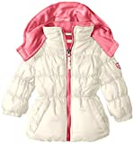 Pink Platinum Baby Girls' Ripstop Puffer, Cream, 12 Months