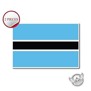 10305 botswana flag 2 pieces vinyl wall home decor car window bumper decal 3quot