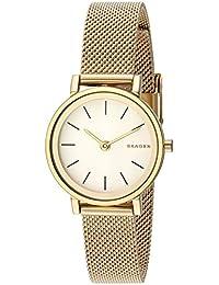 Skagen SKW2443 Reloj para Mujer Redondo, Análogo, color Blanco y Oro