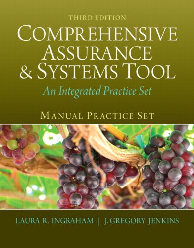 Book cover from Manual Practice Set for Comprehensive Assurance & Systems Tool (CAST) (3rd Edition)by Laura R. Ingraham