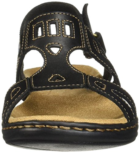 Leather Women Sandal Black CLARKS Leisa Annual 8HHFf