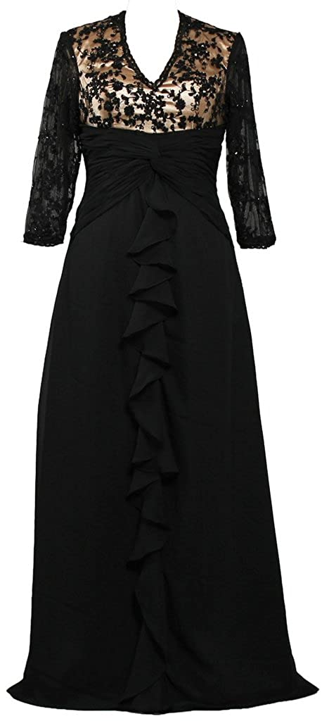 ANTS Womens Long Lace Mother of The Bride Dresses with Sleeves