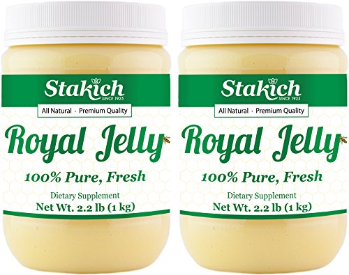Fresh Royal Jelly - Stakich Fresh Royal Jelly - 100% Pure, All Natural, Highest Quality - No Additives/Flavors/Preservatives Added - 2 KG