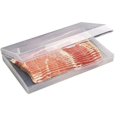 Plastic Bacon Keeper / Kitchen Meat Saver Storage Container