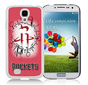 Fashionable Antiskid Cover Case For Samsung Galaxy S4 I9500 i337 M919 i545 r970 l720 With houston rockets 1 White Phone Case