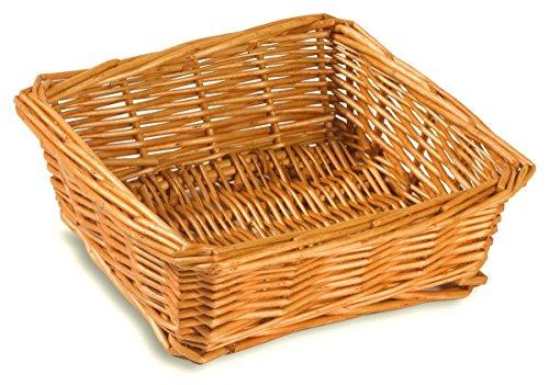 Small Wicker Baskets, Handmade Natural Willow Golden Finish, 8.5