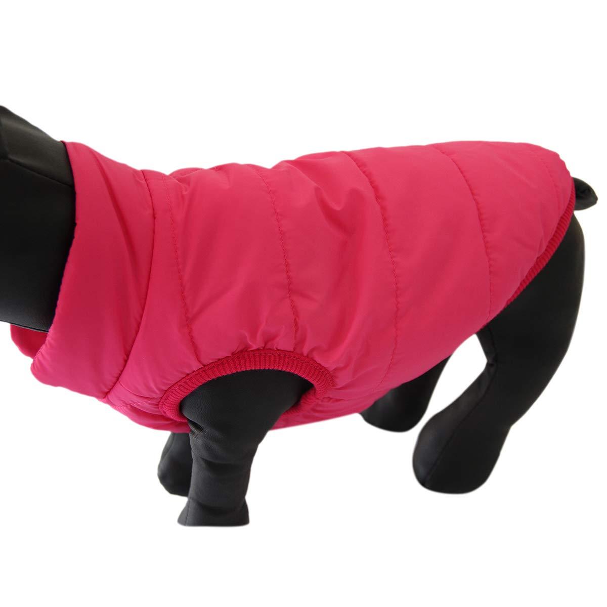 Chaqueta de Forro Polar para Perro 2 Capas Extra Suave Resistente al Viento Muy c/álida para Invierno y Clima fr/ío para Perros JoyDaog