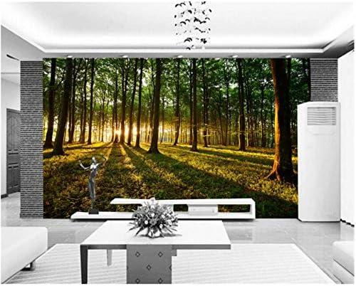 Lcymt カスタム風景壁画自然風景森大きな木自然風景壁紙寝室リビングルームソファ背景壁の装飾-120X100Cm