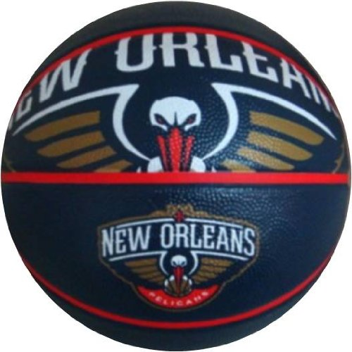 Spalding NBA Courtside Outdoor Basketball, 29.5-Inch, New Orleans
