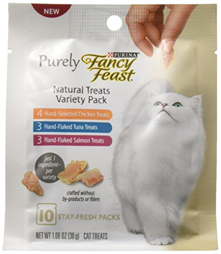 Purina Fancy Feast Purely Natural Cat Treats Variety Pack - 10 ct. Pouches - Fancy Nugget