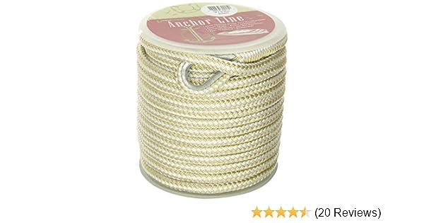 Unicord 300150 Gold//White 3//8 x 100 Nylon Braid Anchor Line