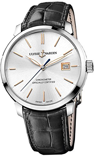 New Mens Ulysse Nardin San Marco Silver Dial Automatic Watch 8153-111-2/90