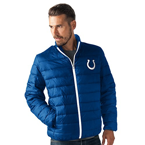 (G-III Sports NFL Indianapolis Colts Men's Skybox Full Zip Packable Jacket, Royal, Medium)
