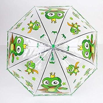 MM Bambini Ombrello Trasparente Ragazze Ragazzi Apollo Delfino del Fumetto dei Bambini ombrelli Ombrello Pioggia semiautomatica for Bambini Color : Elephant
