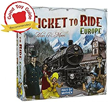 Days of Wonder Ticket to Ride Europe - Juego de Mesa de Estrategia sobre ferrocarriles (en inglés): Ticket to Ride Europe: Amazon.es: Juguetes y juegos