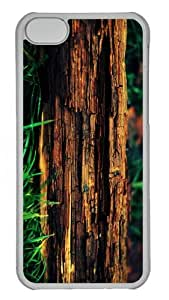 custom cases decayed tree trunk PC Transparent case for iphone 5C