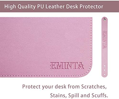 Dual Sided PU Leather Desk Pad, 2019 Upgrade Sewing Edge Office Desk Mat, Waterproof Desk Blotter Protector, Desk Writing Mat Mouse Pad (Purple/Pink, 31.5″ x 15.7″) 51zdqUtAorL