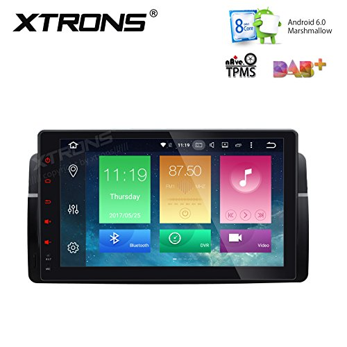 XTRONS Android 6.0 Octa-Core 64Bit 9 Inch Capacitive Touch Screen Car Stereo Radio Player GPS CANbus Screen Mirroring Function OBD2 Tire Pressure Monitoring for BMW E46 M3 320 330 325 Rover MG by XTRONS