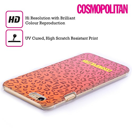 Official Cosmopolitan Ombre Leopard Animal Skin Patterns Hard Back Case for Apple iPhone 4 / 4S