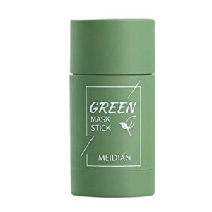 Green Tea Purifying Clay Stick Mask, Removes Blackheads And Deep Cleansing Oil Control And Anti-Acne Solid And Fine, Exfoliating Mask, Suitable for All Skin Types (40g)