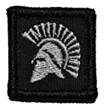 Spartan Head 1x1 inch Military Patch / Morale Patch - Black