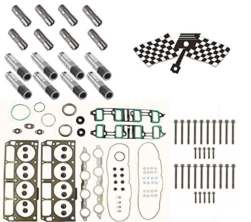Gm 6.0 AFM Lifter Replacement Kit. Head Gasket Set, Head Bolts and Lifters (Head Square Hybrid)